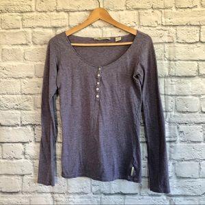4/$20🍄 Maison Scotch Purple Stripe Top